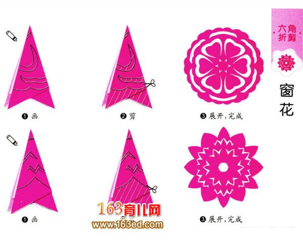 儿童剪纸教程:窗花图案2—儿童手工制作网