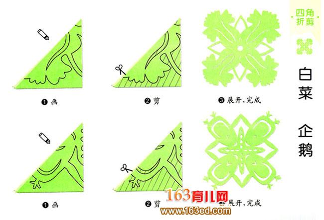 儿童剪纸教程 企鹅纹样
