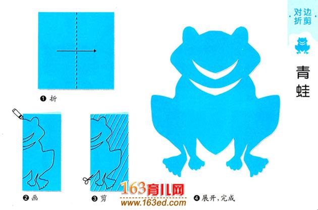 儿童剪纸教程图解 大青蛙