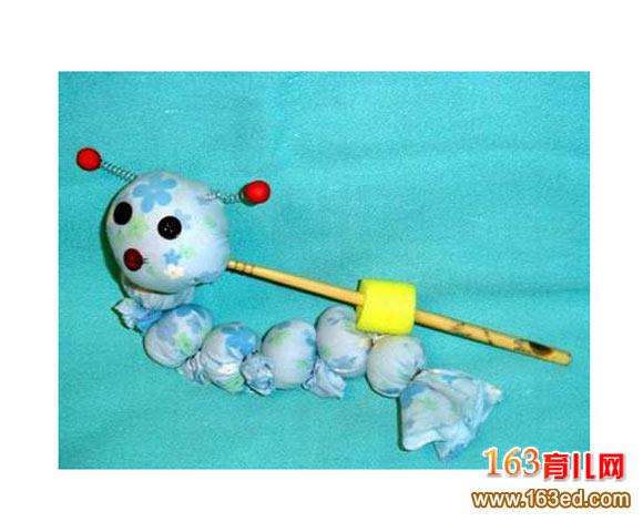 幼儿手工制作:快乐的毛毛虫—儿童手工制作网