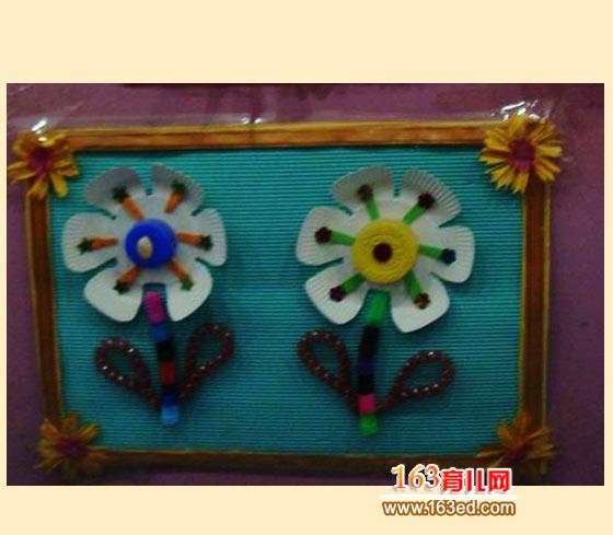 纸盘做的花朵_儿童废旧物品小手工