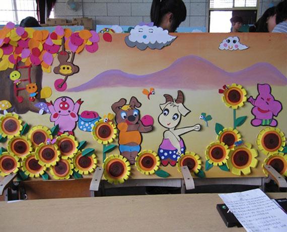 幼儿园吸管贴画_幼师手工作品:快乐的小动物—儿童手工制作网