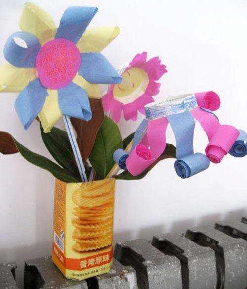 幼儿手工:纸杯制作节日手工花图解教程