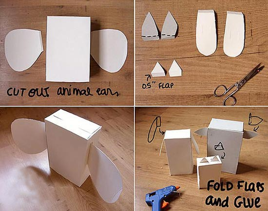 用废旧纸盒制作各种小动物的教程—儿童手工制作网