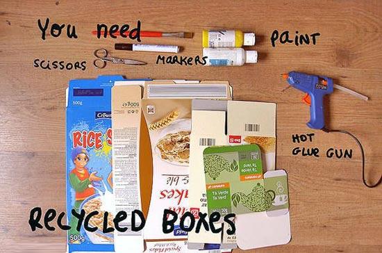 用废旧纸盒制作各种小动物的教程