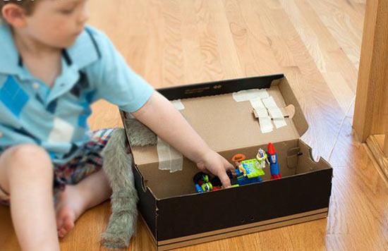 幼儿手工:用纸盒制作小狗和小猫立体玩具教程