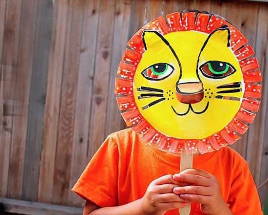 儿童手工:狮子面具的制作方法