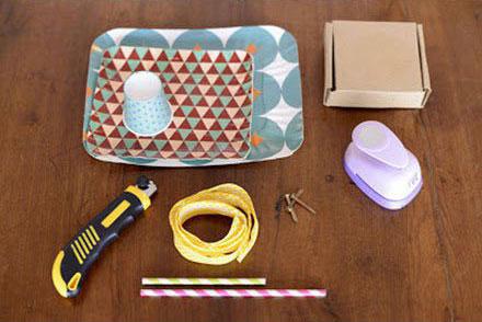 幼儿废旧利用手工:纸盒制作玩具照相机