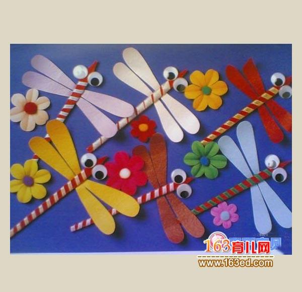 幼儿手工制作教程:纸做的小蜻蜓