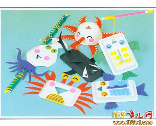 饭盒做的小动物_儿童变废为宝小手工—儿童手工制作
