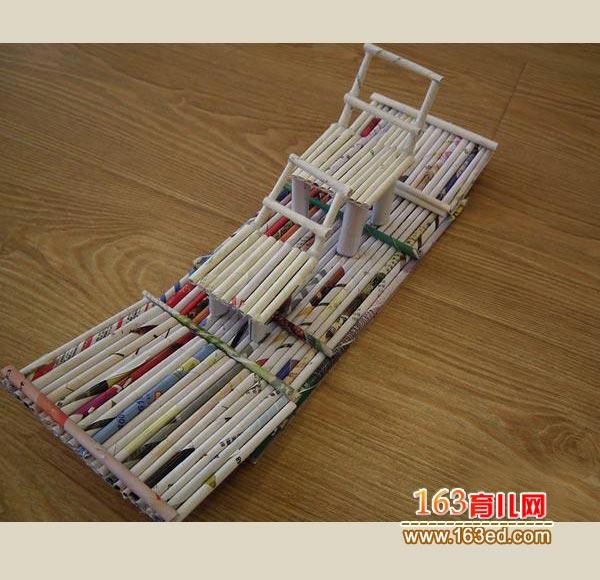 旧报纸做的竹筏_儿童废旧物品小手工—儿童手工制作