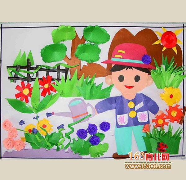 儿童纸手工制作作品图片—儿童手工制作