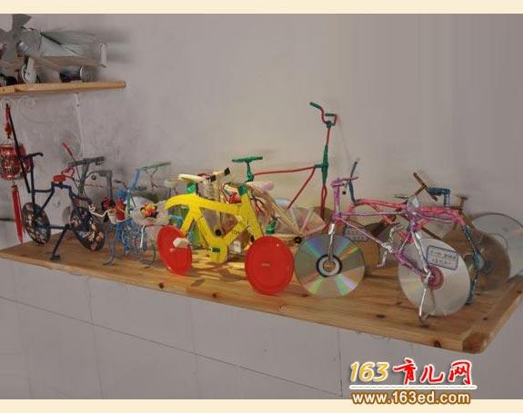 光盘自行车的制作_儿童废旧物品小手工