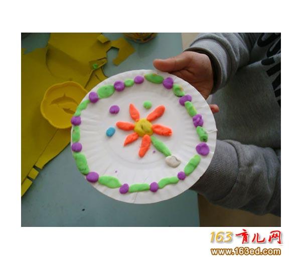 幼儿园橡皮泥手工作品:海马