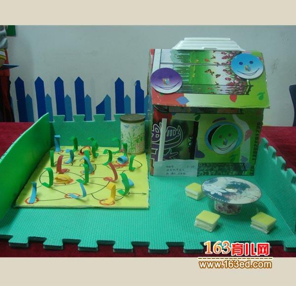 幼儿变废为宝手工制作:纸盒做的小房子