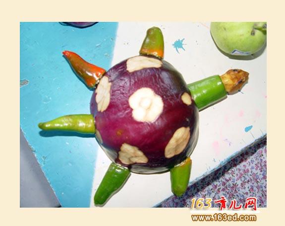 洋葱做的小乌龟_幼儿废旧物品手工制作