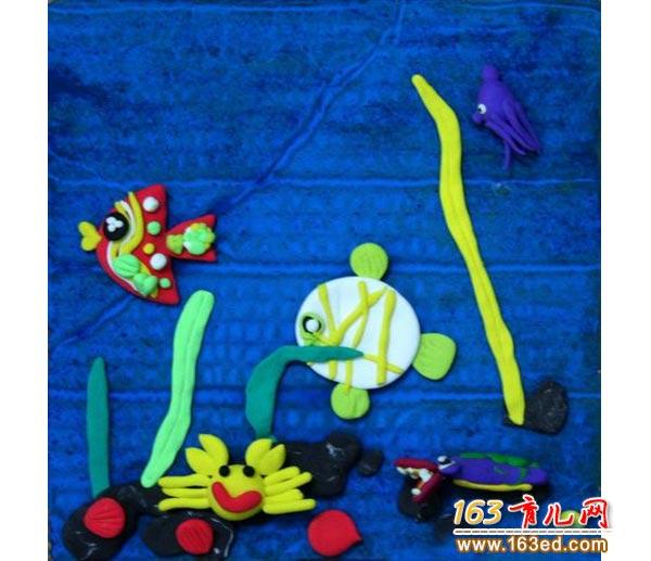 橡皮泥做的海底生物_幼儿手工制作作品