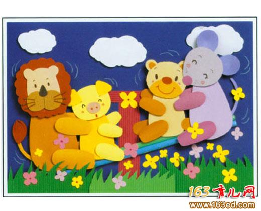 狮子和玩耍的小动物_变废为宝手工制作教程