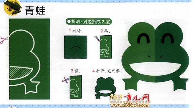 怎样剪一只青蛙_幼儿剪纸图解教学