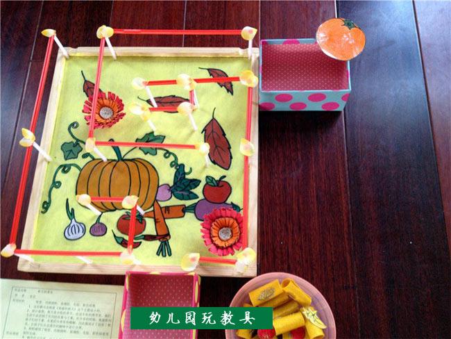 幼儿手工制作:吸管做的迷宫