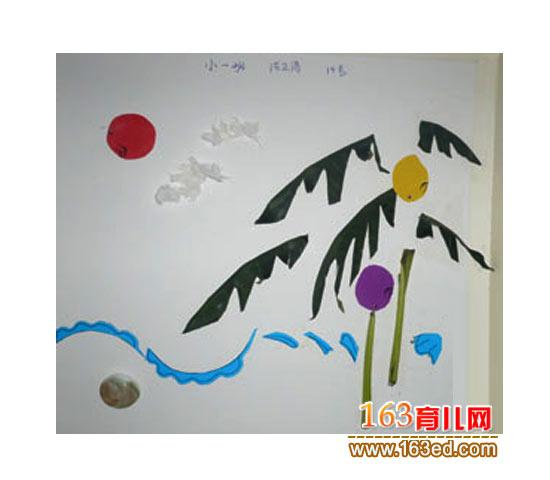 树叶 电脑 粘贴/香蕉林(树叶粘贴画图片)