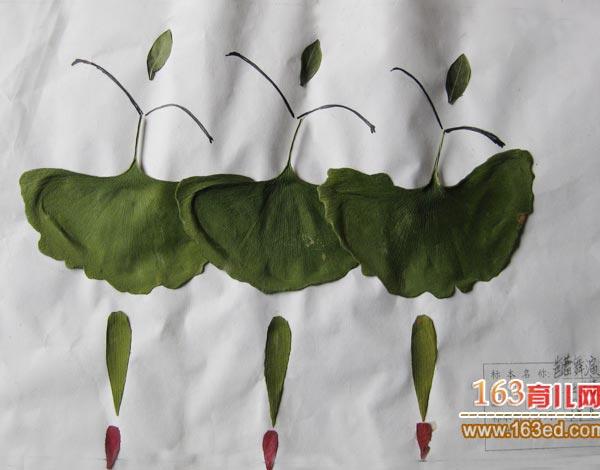 儿童树叶粘贴画图片:优雅的天鹅舞